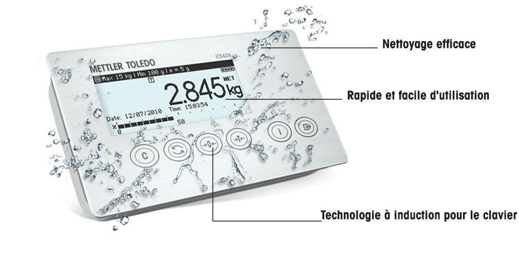 ICS429– Terminal/balance à conception hygiénique
