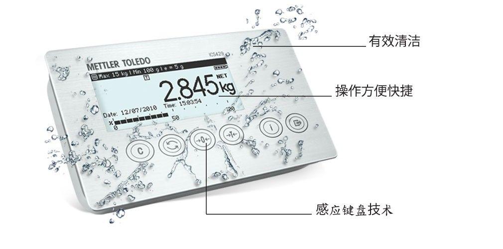 ICS429 – 带有卫生级触屏的终端/台秤