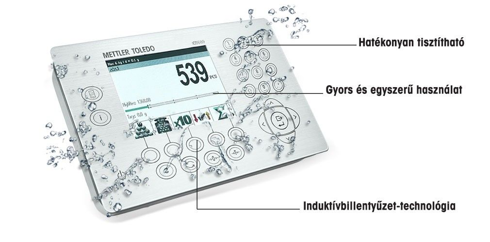 ICS429 – Terminál/Mérleg higiénikus kezelőfelülettel