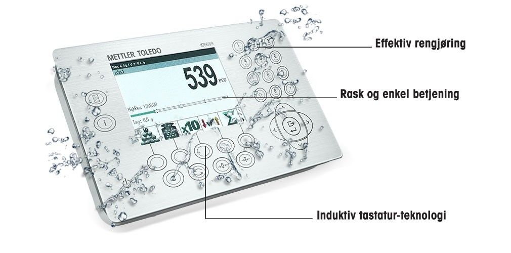ICS429 – terminal/vekt med hygienisk berøring