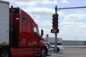Truck scale display