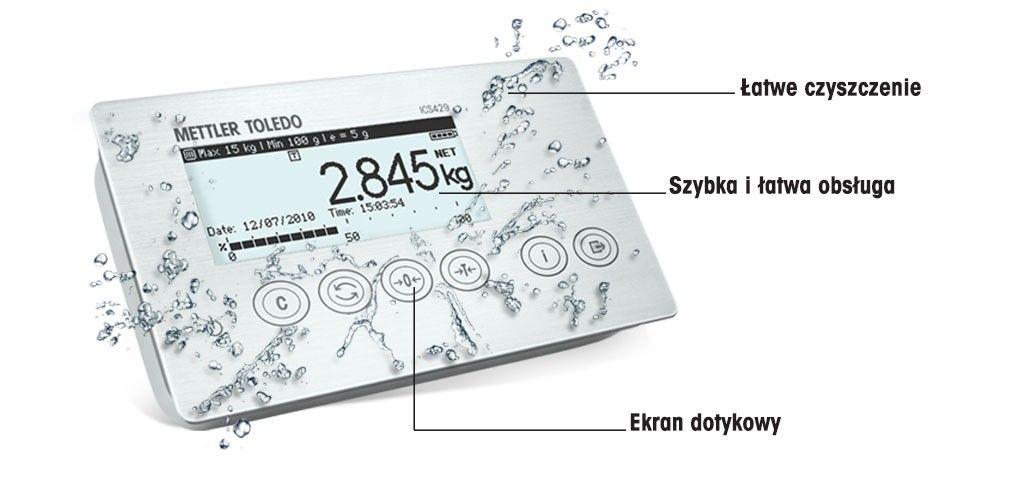 ICS429 – terminal/waga z higieniczną obsługą dotykową