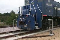 Train entering scale