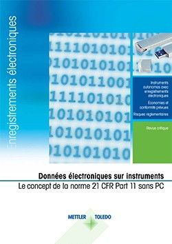 Instruments conformes à la norme 21 CFR Part 11