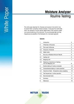 Moisture Analyzer Routine Testing