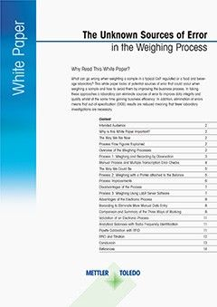 Sources of Error in Weighing Process