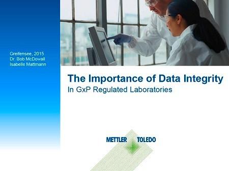 Data Integrity webinar - GXP Regulated Laboratory