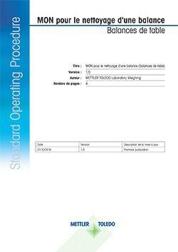 Apprenez la procédure de nettoyage d'une balance d'analyse ou de précision. Télécharger l'intégralité du mode opératoire normalisé (MON).