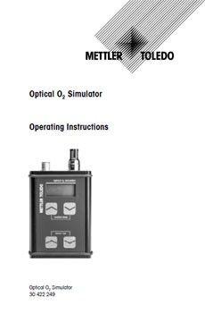 Bedienungsanleitung: Optischen Sauerstoffsensor-Simulator
