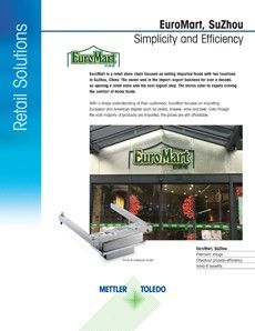 EuroMart in China Case Study featuring Ariva-B Checkout Scales.
