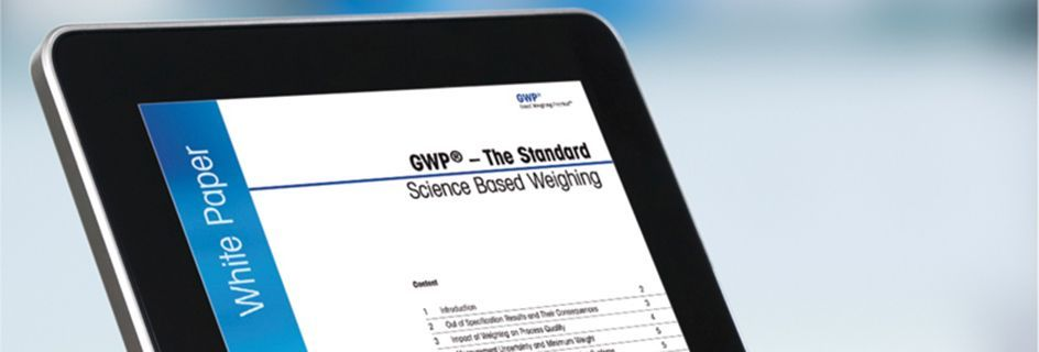 GWP® - The Standard - White Paper for the Pharmaceutical Industry