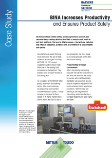 BINA Increases Productivity and Ensures Product Safety