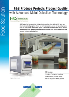F&S Produce Uses Metal Detection to Protect Product Quality