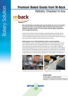 Los productos de repostería de primera calidad de M-Back se comprueban de forma fiable