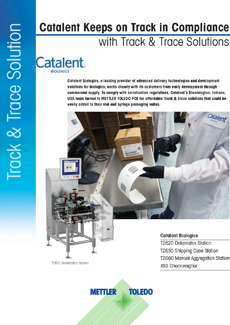 Catalent Biologics Turns to Track & Trace to Keep Compliant