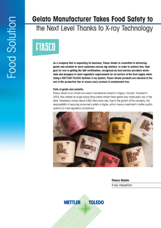 Fiasco Gelato selects an X33 x-ray inspection system