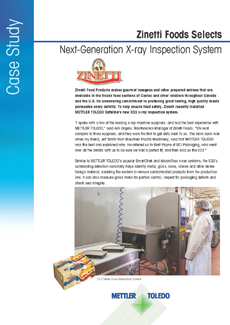 Zinetti Foods Selects Next-Generation X-ray Inspection System