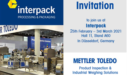 Invitation & Free Entrance Tickets to Visit us at Interpack 2021