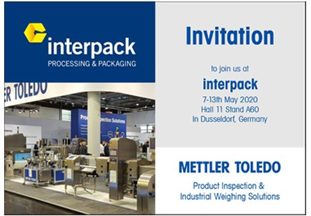 Invitation & Free Entrance Tickets to Visit us at Interpack 2020