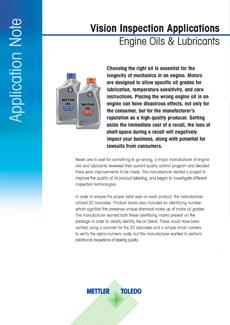机油和润滑油的视觉检测应用说明