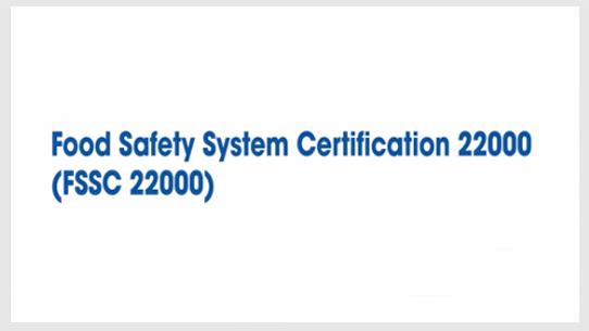 Food Safety System Certification FSSC 22000