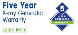 Five Year X-ray Generator Warranty
