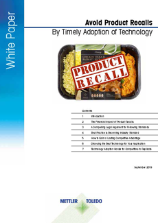 Product inspection technology helps to prevent product recalls