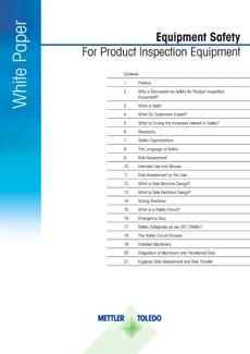 Sicurezza degli strumenti per l'ispezione prodotti