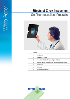 Effects of X-ray Inspection on Pharmaceutical Products
