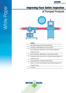 White Paper Pumped Food Inspection| Product Inspection