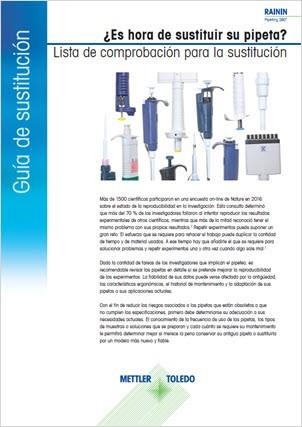 Guía de sustitución de pipetas