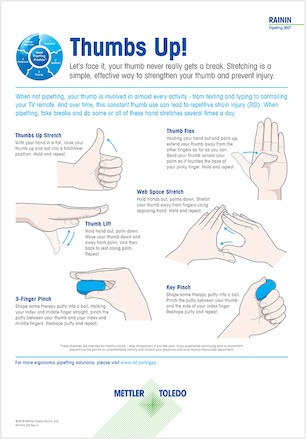 Thumb stretches to prevent RSI