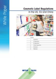 Regler for mærkning af kosmetik i USA, EU og Kina.