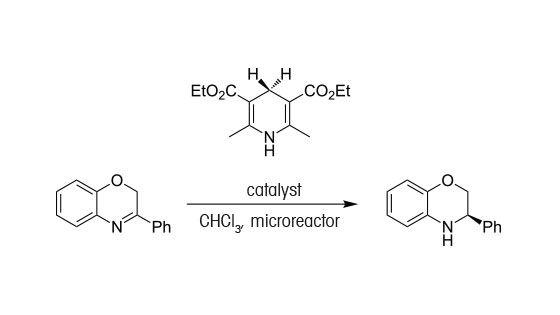 Hydrogénation asymétrique catalytique en flux continu