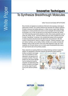 Livre blanc gratuit à télécharger sur les techniques de synthèse de molécules innovantes