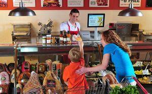 生鲜食品服务柜台