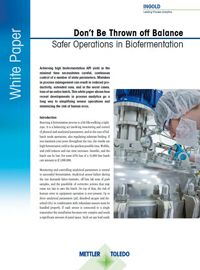 Safer Operations in Biofermentation