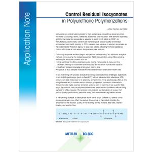 Isocyanate in Polyurethane Polymerizations
