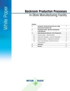 Meat Backroom Production White Paper