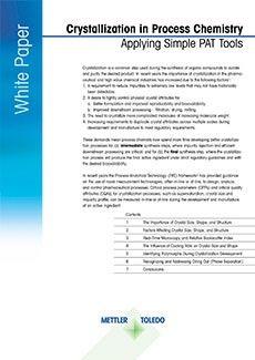 Livre blanc à télécharger sur la cristallisation dans la chimie des procédés