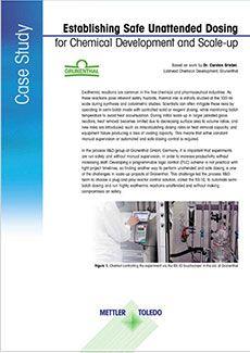 화학 개발 및 Scale-up 시에도 안전한 무인 투여 가능