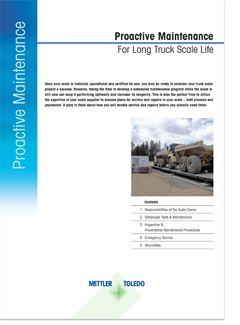 트럭 스케일 수명 연장을 위한 사전 유지보수
