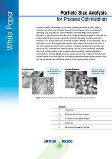 Biela kniha: Analýza veľkosti častíc na optimalizáciu procesu