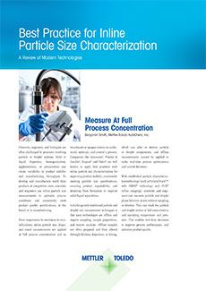 Inline Particle Size Characterization
