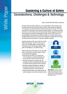 White Paper: Sustain a Culture of Safety
